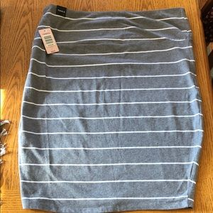 Torrid grey and white stripe pencil skirt